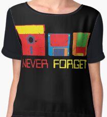 Never Forget Digital Data Formats Chiffon Top
