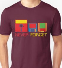 Never Forget Digital Data Formats T-Shirt