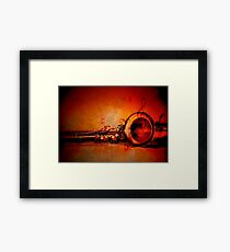 Sax n' music Framed Print