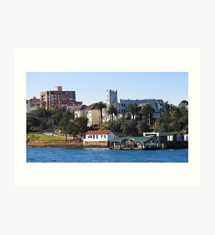 Mansions and Quays on Sydney Harbour Art Print