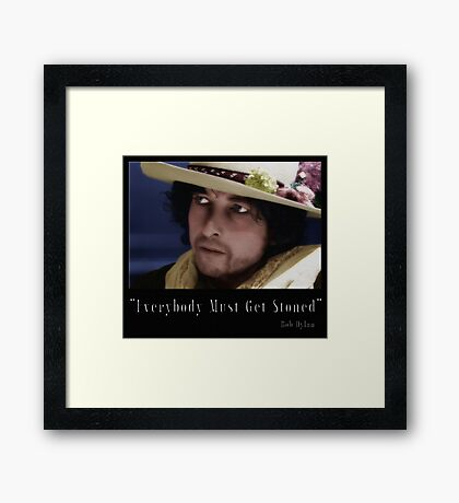 """""""Everybody Must Get Stoned"""" Framed Print"""