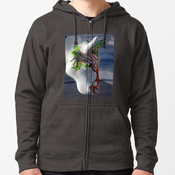 Cow with tree, Ebrington, Derry Zipped Hoodie