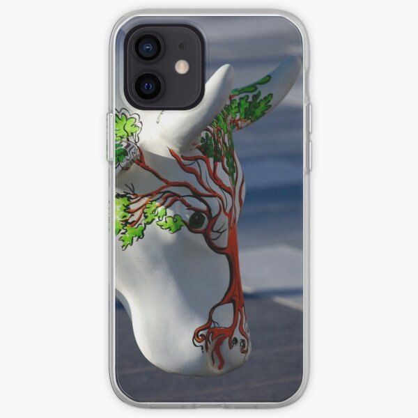 Cow with tree, Ebrington, Derry iPhone Soft Case