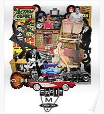 Eddie M Vintage DooWop Design Poster