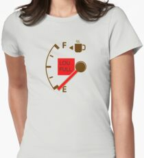 low fuel coffee Womens Fitted T-Shirt