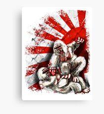 MMA fighting gorillas Canvas Print