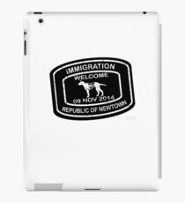 Republic of Newtown - 2014: White on Black iPad Case/Skin
