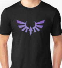 Hylia Crest - Purple on Black Unisex T-Shirt