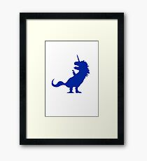 Unicorn T-Rex Framed Print