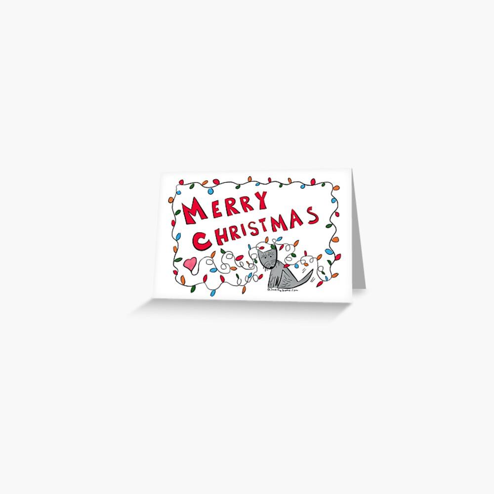 Jack - Merry Christmas Lights Greeting Card