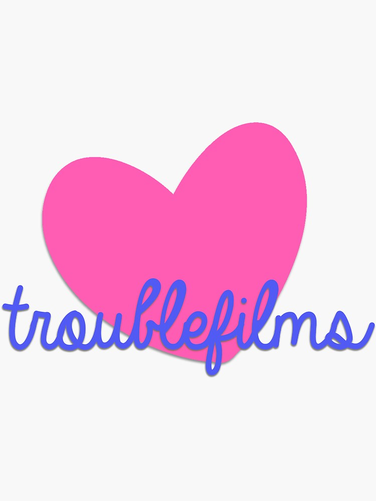 TROUBLEfilms Pink & Blue Logo by courtneytrouble