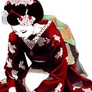 Bowing Geisha by saltandcaffeine