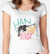 Star Wars - Han Shot First Women's Fitted Scoop T-Shirt
