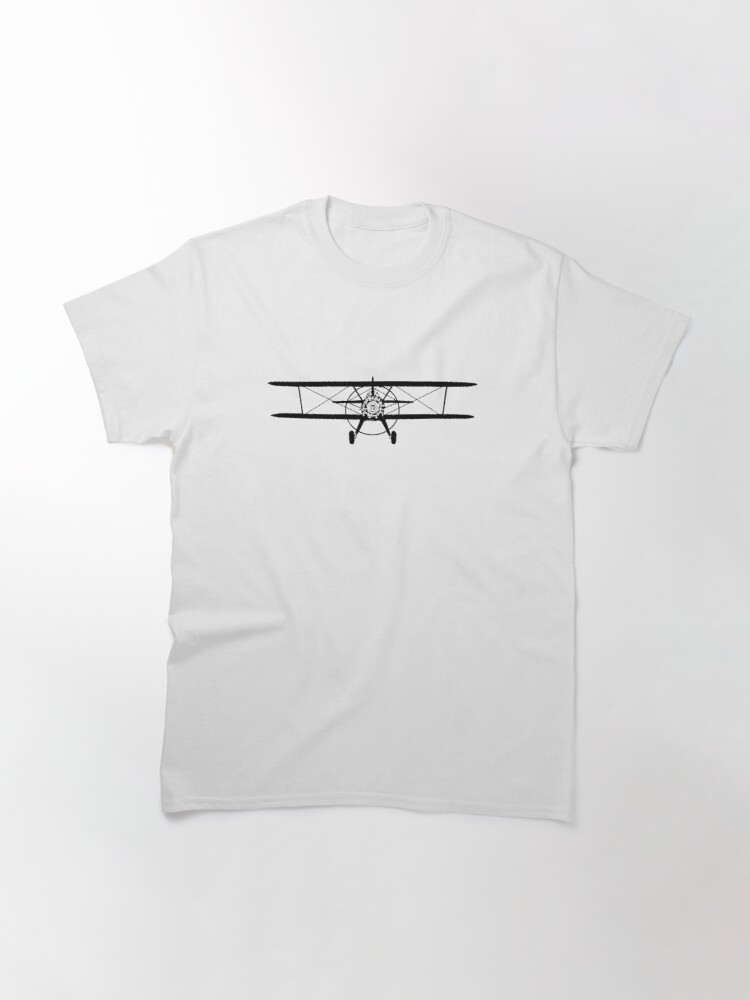 Alternate view of Stearman Biplane Head-On Classic T-Shirt
