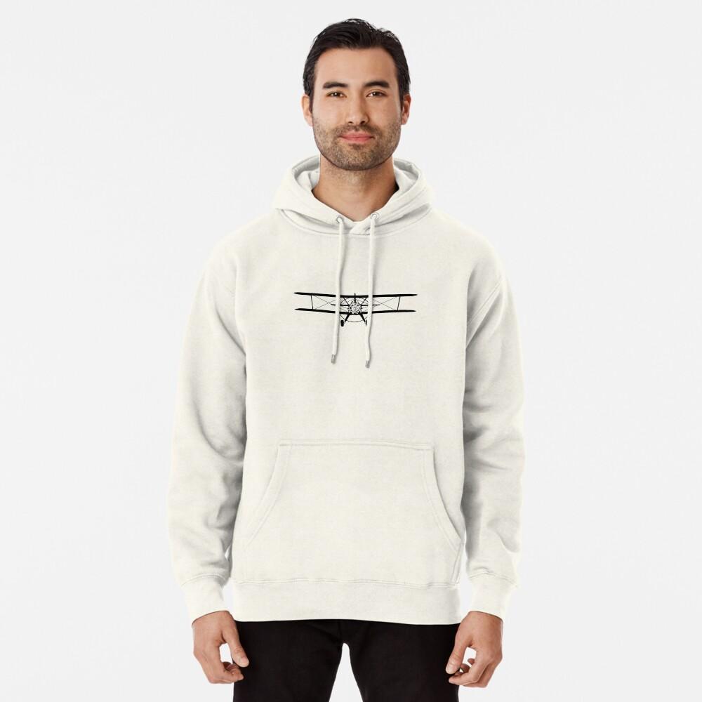 Stearman Biplane Head-On Pullover Hoodie