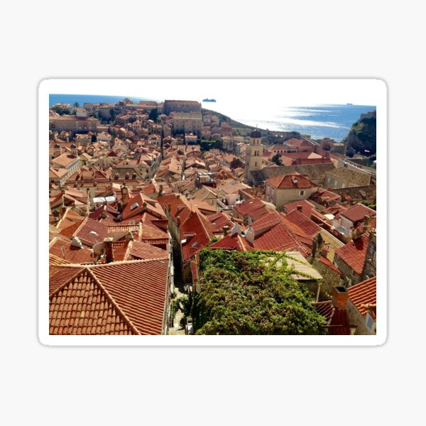 Croatia - Dubrovnik-Neretva below Sticker