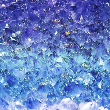 Zafiro piedras preciosas talladas en bruto de peggieprints