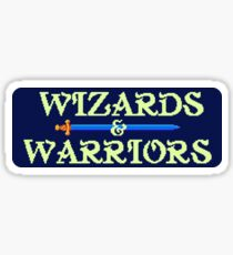 Wizards & Warriors (NES Title Screen) Sticker