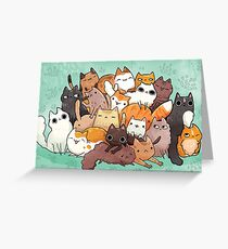 Pile o cat  Greeting Card