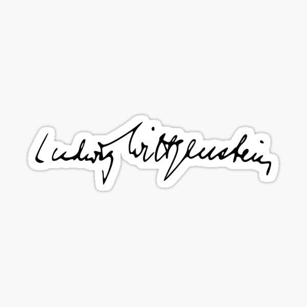 Ludwig Wittgenstein's Signature Sticker