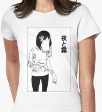 Camiseta entallada para mujer corte profundo (BLANCO)