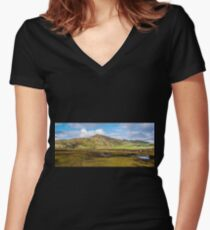 Muckross - County Donegal, Ireland Women's Fitted V-Neck T-Shirt