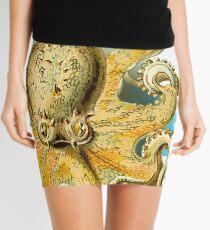 Cool Octopus - Sea Ocean or Navy Style Cartoon Drawing Mini Skirt
