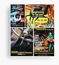 Sci-Fi Movie Poster Art Collection #7 Canvas Print