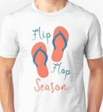 Flip Flop Season - Summer Time Sandals Warm Weather T-Shirt