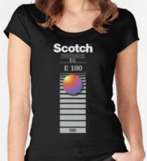 """Camiseta entallada de cuello redondo """"Volver a grabar, no desvanecerse"""" - Scotch VHS"""