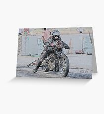 Harley Drag Bike I Greeting Card