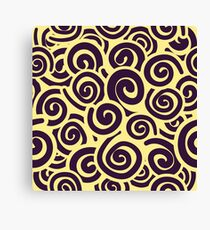 Conceptual Swirls in Light Yellow and Dark Purple Canvas Print
