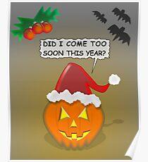 Halloween And Christmas Poster