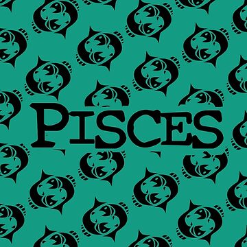 PISCES- Zodiac Symbol Pattern by GalaxyTees
