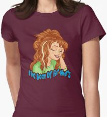 I've Been Up for Hours Womens Fitted T-Shirt