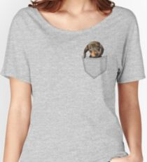 Pocket Dog Dachshund Women's Relaxed Fit T-Shirt
