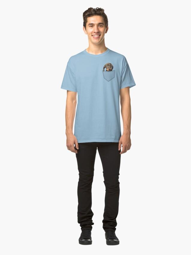 Alternative Ansicht von Taschen-Hundedachshund Classic T-Shirt