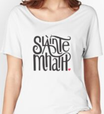 Slainte Mhath in black and red Women's Relaxed Fit T-Shirt