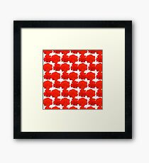 Natural Flowers Series - Red Flowers Framed Print