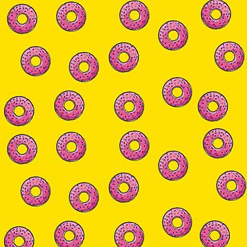 Pink donut by 4linedesign