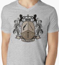 Fillion Character Crest Mens V-Neck T-Shirt