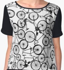 Pile of Black Bicycles Chiffon Top