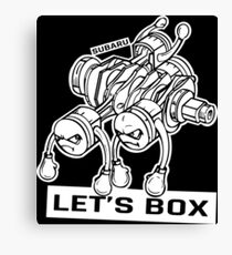 let's lets box funny geeks geek logo Canvas Print
