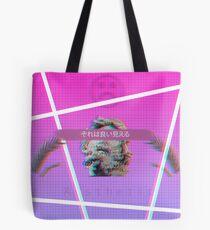 Vaporwave glitched Tote Bag