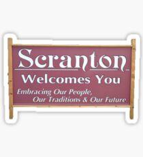 Scranton Welcomes You Sticker