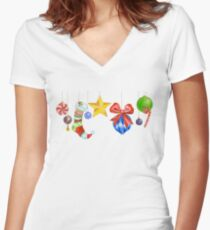 Sparkle & Candy Fitted V-Neck T-Shirt