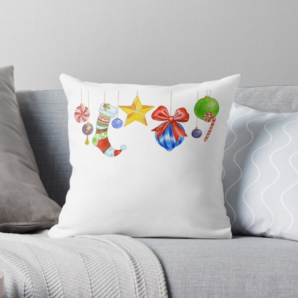 Sparkle & Candy Throw Pillow