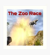 The Zoo Race Cannon Art Print