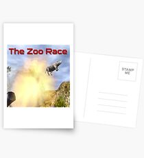 The Zoo Race Cannon Postcards
