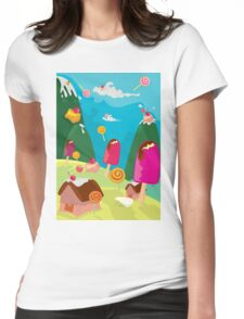 ice cream and candy land Womens Fitted T-Shirt
